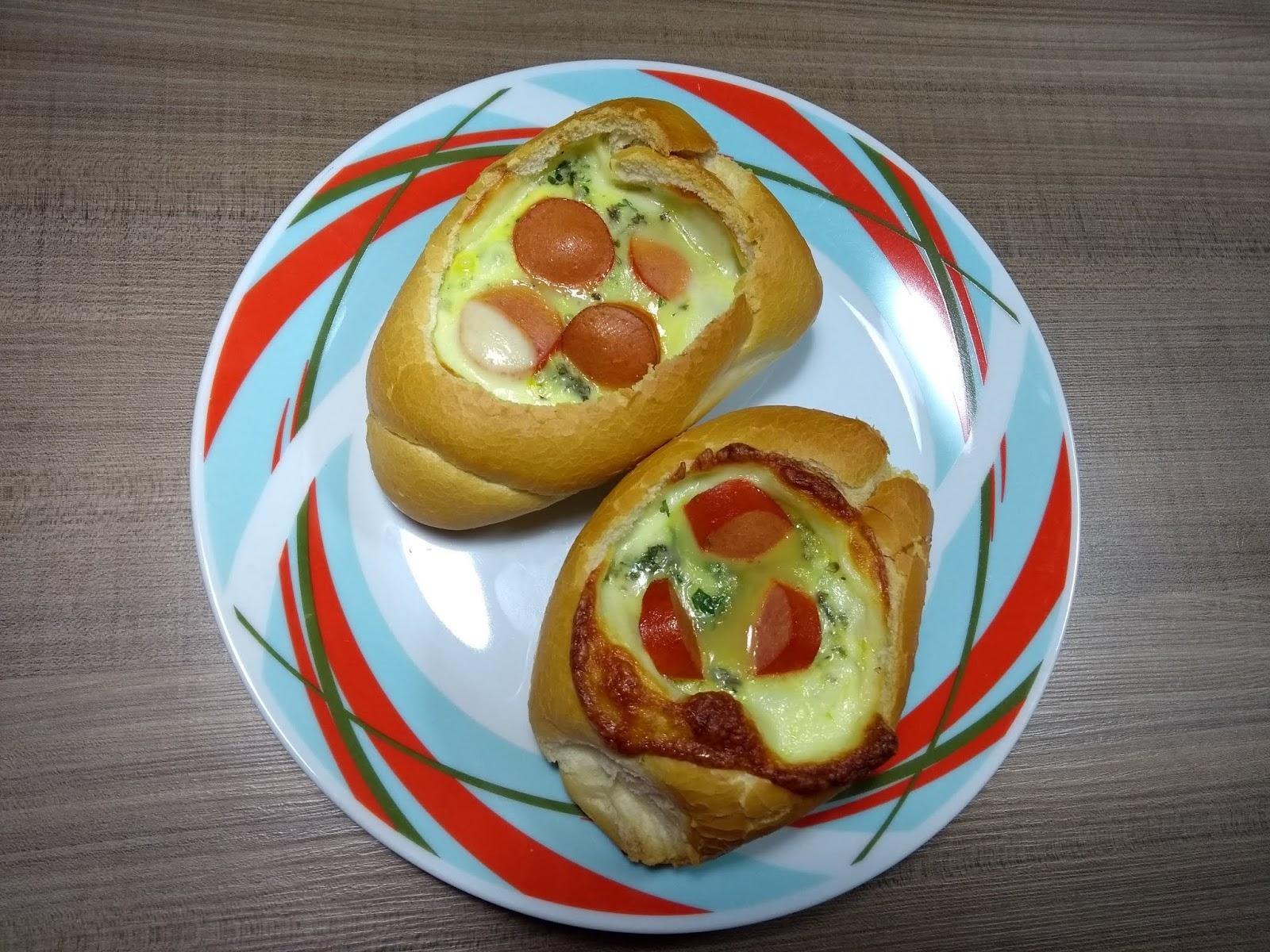 Receita omelete no pão