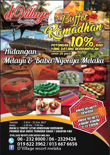 d village resort melaka buffet ramadhan