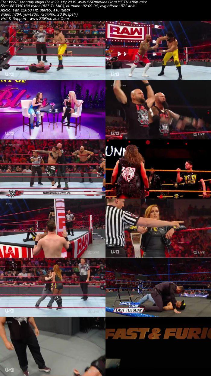 WWE Monday Night Raw 29 July 2019 Full Show Download HDTV WEBRip 480p 720p