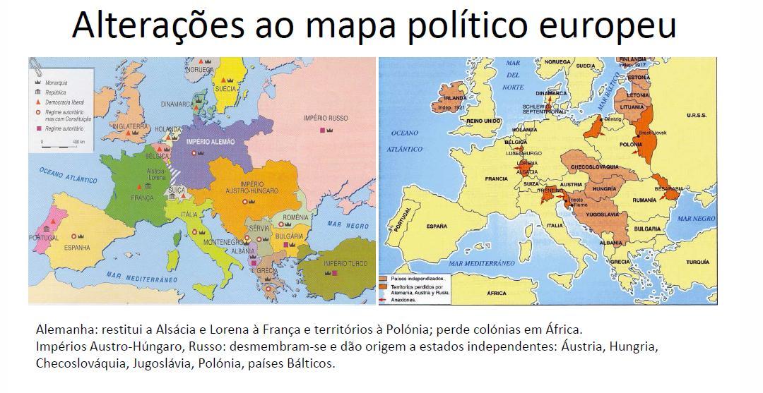 o novo mapa politico da europa Aprender História   9º Ano: Mapa politico após a 1ª guerra mundial o novo mapa politico da europa