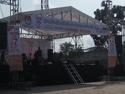 Jelang Pemilu 2019, KPU Provinsi Lampung Adakan Pagelaran Seni Budaya