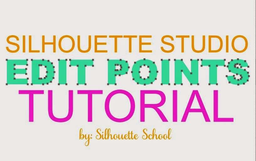 Silhouette Studio, edit points, Silhouette tutorial
