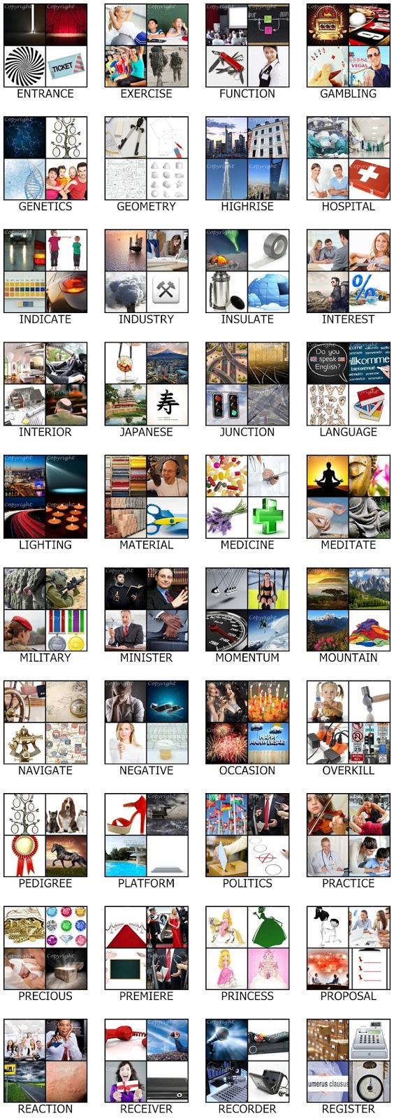 Cheat Four Pics One Word 8 Letters Image Collections Letter Format