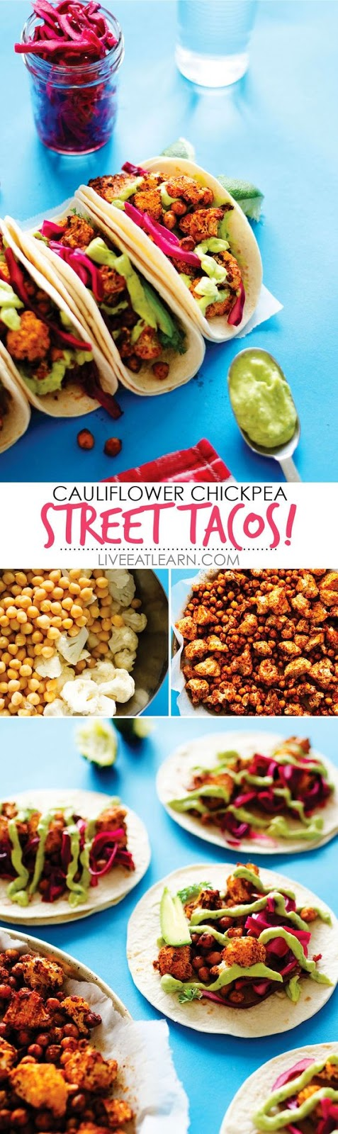 Roasted Cauliflower Street Tacos