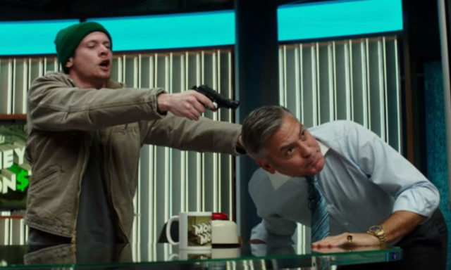 "Jack O'Connell and George Clooney in Jodie Foster's ""Money Monster"""