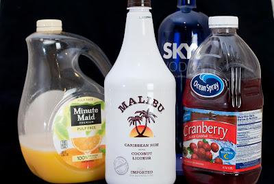 Barbie, barbie cocktail, mailbu rum, coconut rum, vodka, cranberry juice, orange juice