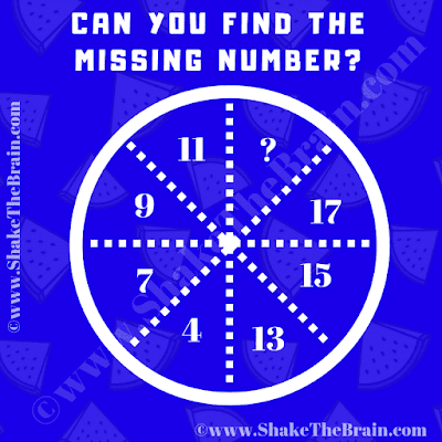 Can you solve this Maths Brain Teaser and find the value of the missing number?