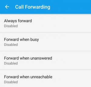 menu call forwarfing untuk mengalihkan panggilan telepon