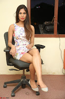 Nishi Ganda stunning cute in Flower Print short dress at Tick Tack Movie Press Meet March 2017 269.JPG