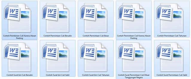 Kumpulan Contoh Surat Izin Cuti Pegawai Negeri Sipil Format Resmi