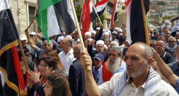 الجولان سيبقى عربياً سورياً أهالي الجولان يجددون رفضهم ما يسمى انتخابات المجالس المحلية