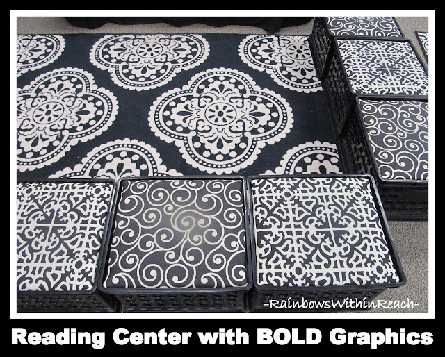 Reading Center with BOLD Graphics (Classroom Decor RoundUP at RainbowWithinReach)