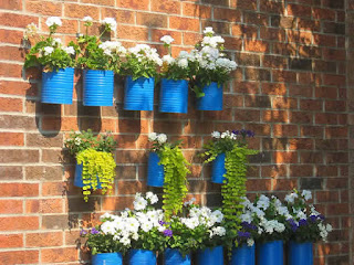 reciclagem reciclavel reciclando artesanato diy faca voce mesmo lata latinha jardim vertical vaso vasinho planta