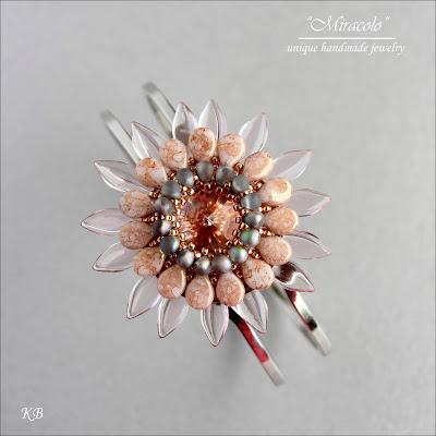 bransoletka z koralikami pip , pip beads bracelet