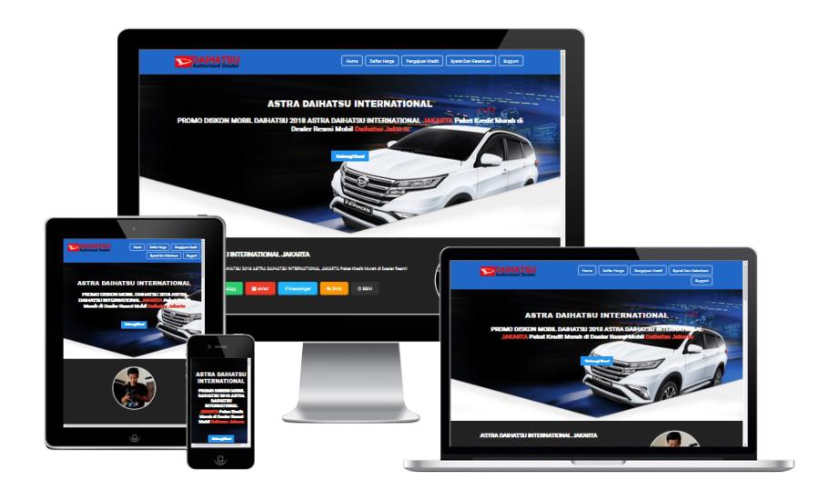 Astra Landing Page Blogspot Builder