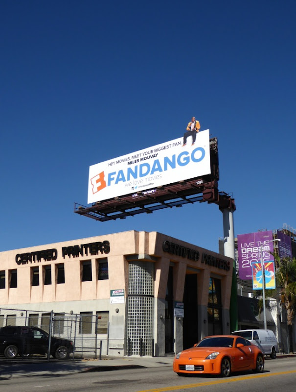 Fandango Miles Mouvay Movies biggest fan billboard