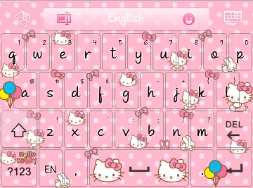 Pretty Droid Themes Hello Kitty Go Keyboard Skins