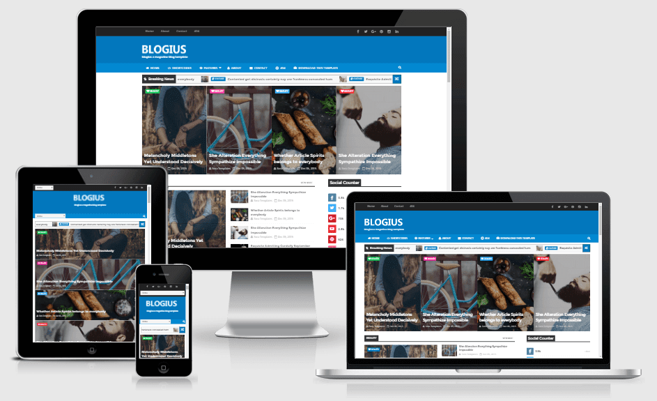 Blogius - Responsive News-Magazine Blogger Template