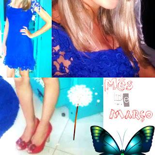 Look do dia, moda, beleza, Lookoftheday, Resenha, vestido de renda azul,