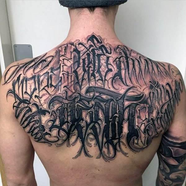 tatuajes para hombres de letras