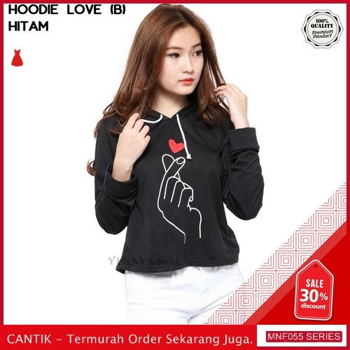 MNF055J101 Jaket Bl Wanita Besar Love Crop Hoodie 2019 BMGShop
