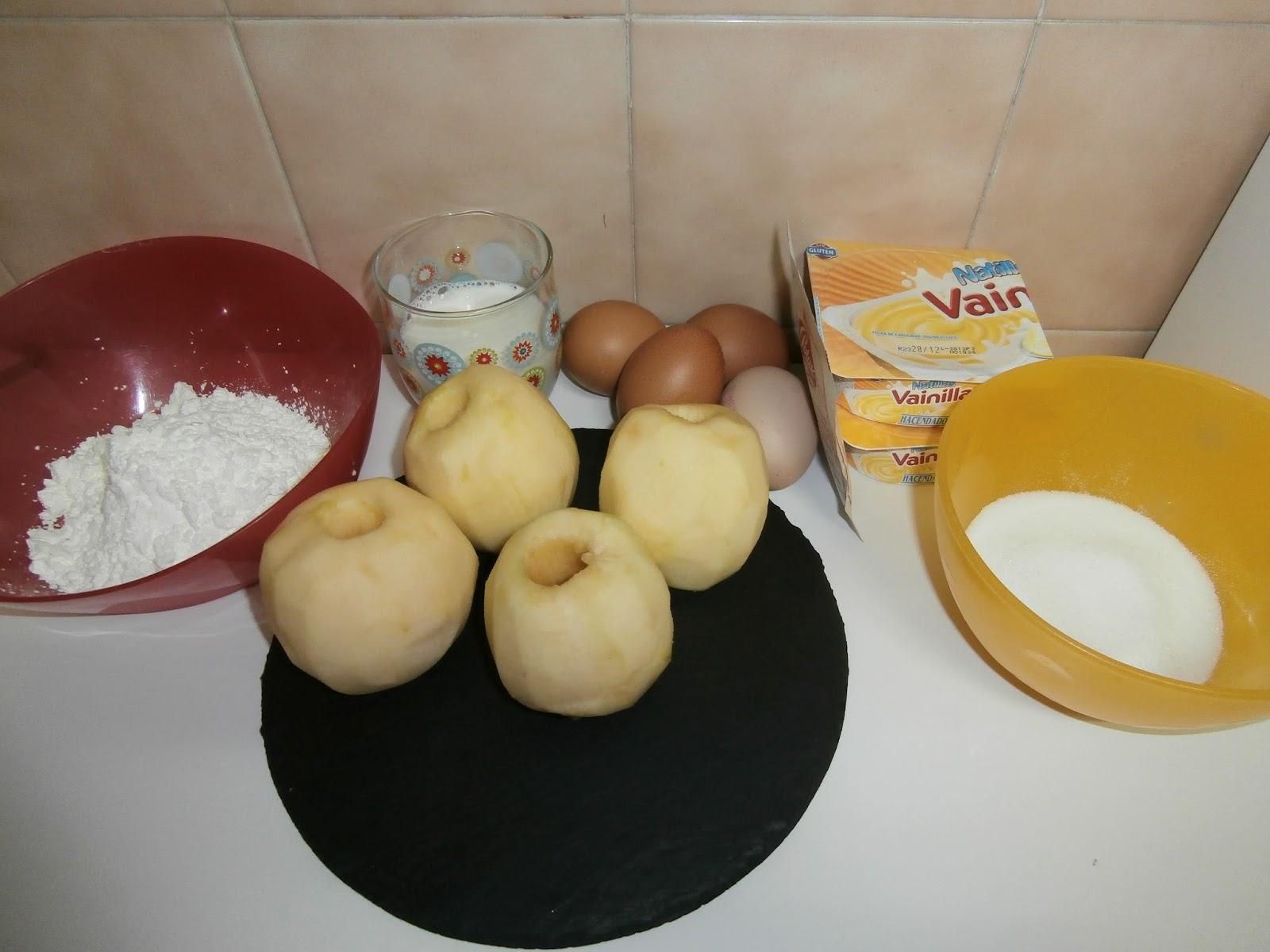 Cocinando con la family tarta de manzana y natillas en for Cocinar con olla gm