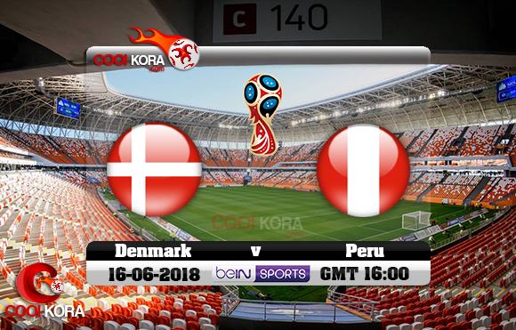 مشاهدة مباراة بيرو والدنمارك اليوم 16-6-2018 بي أن ماكس كأس العالم 2018