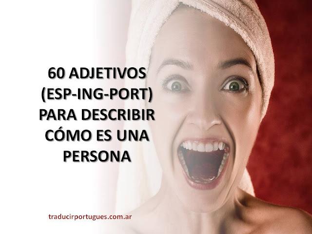 adjetivos, portugués, español, inglés, traductora, traducciones