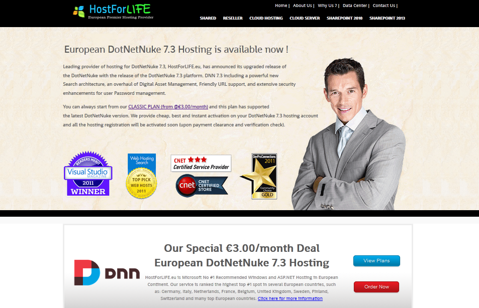 Does HostForLIFE.eu Offer Reliable DotNetNuke 7.3 Hosting ?