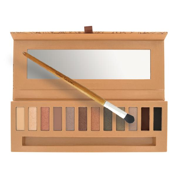 palette eye essential couleur caramel, make up ecobio, palette ecobio, ombretti ecobio