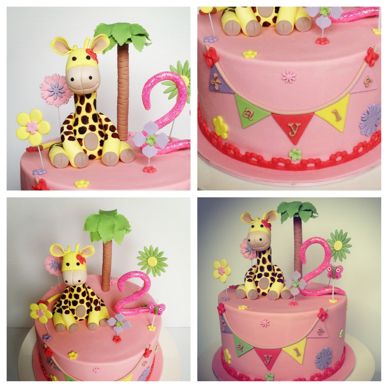 Giraffe Birthday At  Cake Images