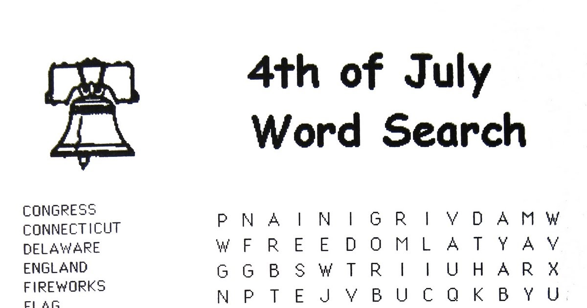 The Gunlock Informer: 4th of July Word Search