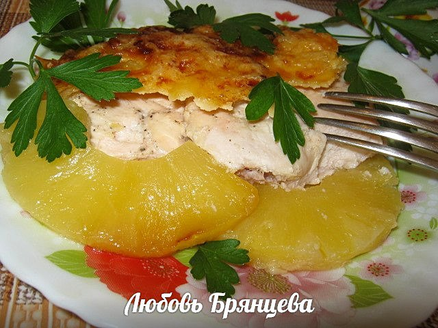 рецепт курицы с ананасом