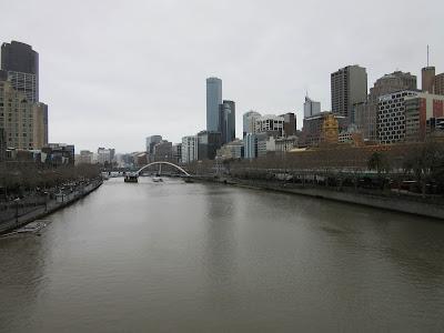 Vistas del centro de Melbourne y del río Yarra