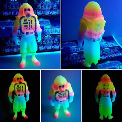 Draco Knuckleduster DayGlow Edition Glow in the Dark Vinyl Figure by Killer Bootlegs x Topheroy