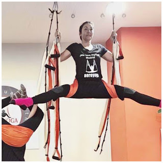 Yoga, Columpio, Hamaca, Trapeze, Swing, Hamac, Balancoire, Acro, pilates, fitness