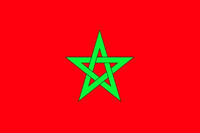 Изображение полотнища Государственного Флага Марокко