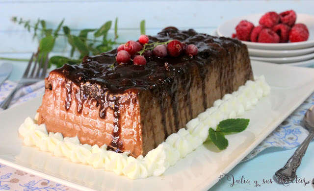 Pudin de chocolate y cookies sin gluten. Julia y sus recetas