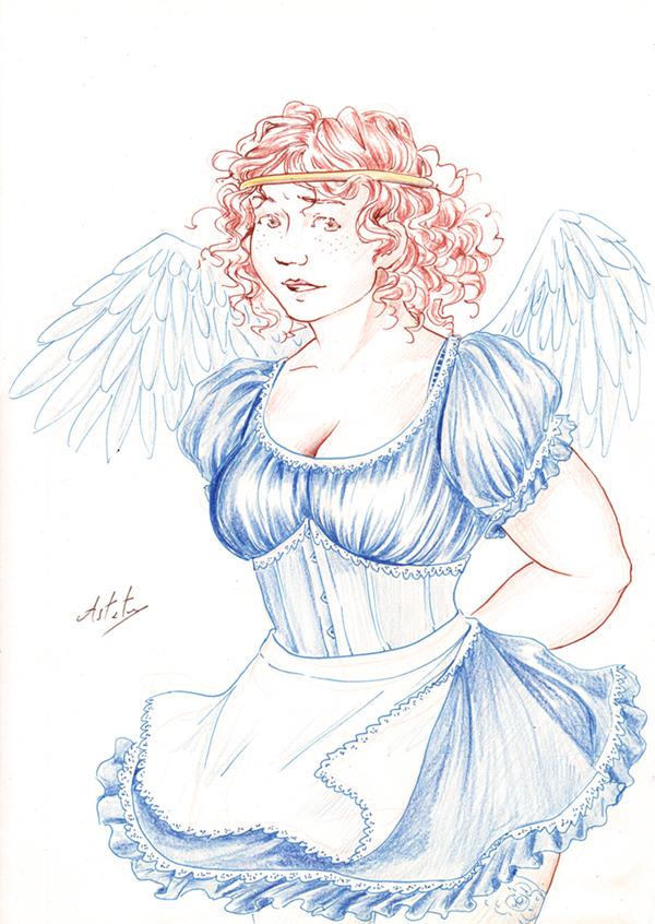 Roxane, une rouquine aux ailes d'ange