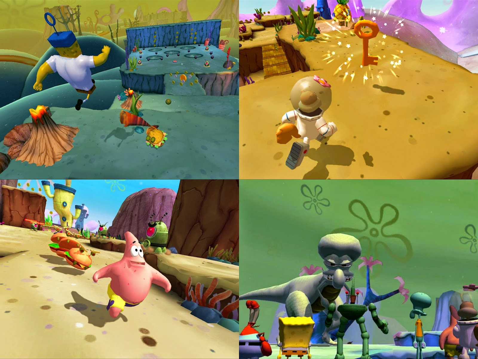 Screenshots from Spomgebob Heropants the video game