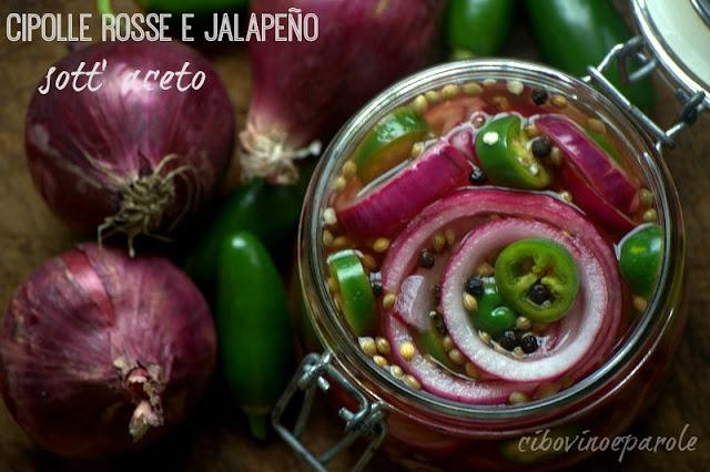 Cipolle rosse e jalapeño sott' aceto jalapeño