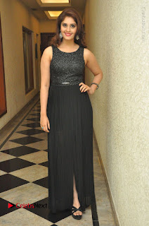 Actress Surabhi Stills in Black Long Dress at turodu Audio Launch  0070.JPG