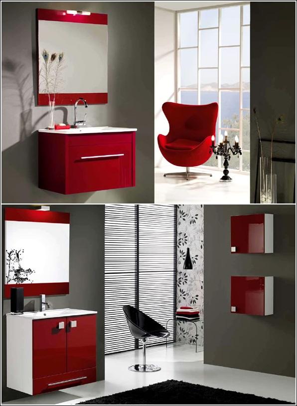 inspiration de d cor en rouge vif gris et le blanc d cor de maison d coration chambre. Black Bedroom Furniture Sets. Home Design Ideas