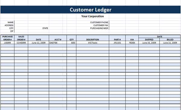 Money Ledger Template. general ledger ms word template office ...