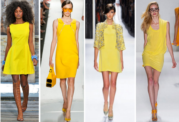 Yellow Dresses on the Runways of Skaist Taylor, Michael Kors, Jenny Packham, and Tracy Reese: