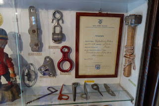 private museum of mountain climbing gear for Italian Alps