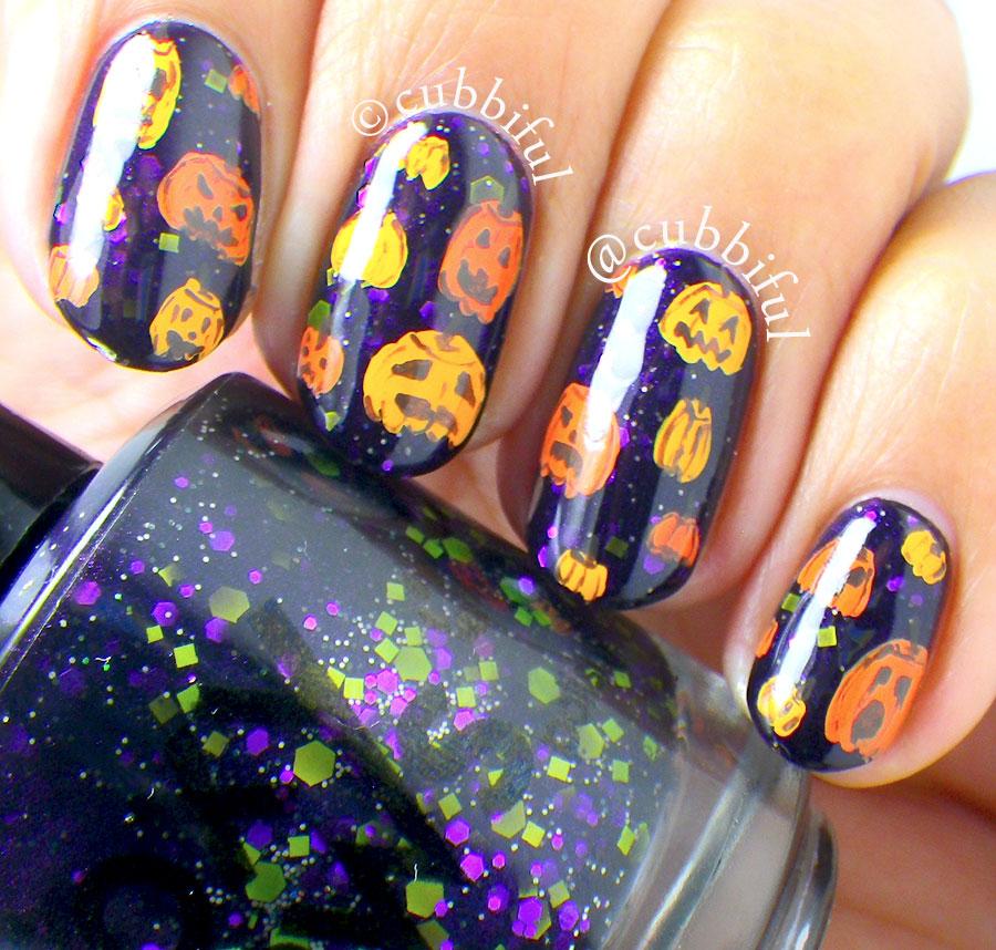 cubbiful: Halloween Nail Art - Pumpkins & Jack-o-Lanterns