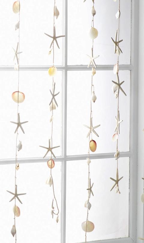 Resin Starfish Shell Garland