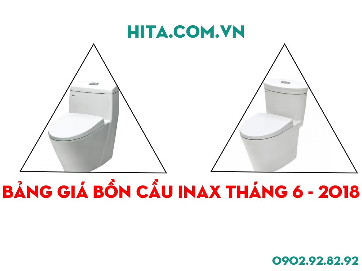 Bảng giá bồn cầu Inax tháng 6 năm 2018 mới nhất cho công trình
