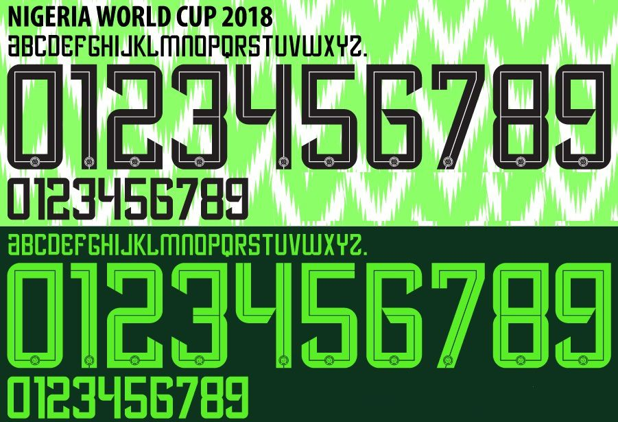 In Detail | ALL Unique Nike 2018 World Cup Kit Fonts - Footy Headlines